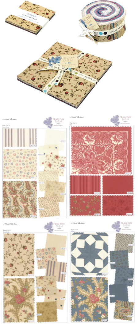 Moda Jelly Roll, Layer Cake and Charm Pack - Flag Day Farm