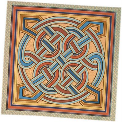 Celtic Patchwork and quilting cushion panel