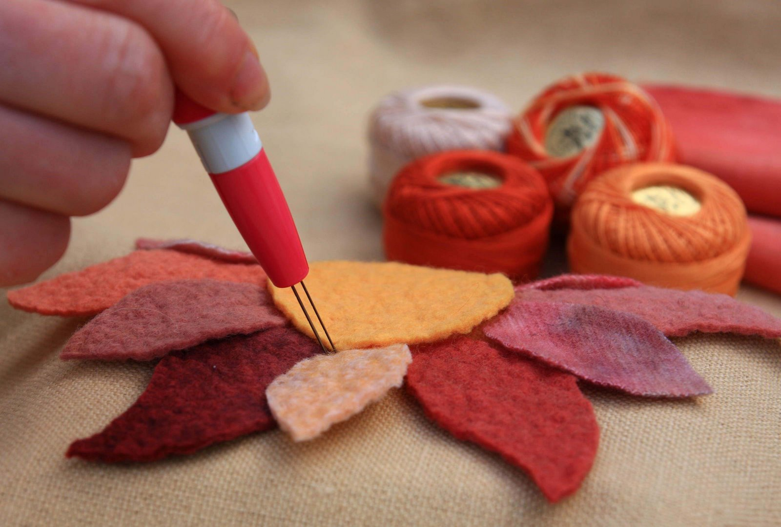 Needle Felting Project with Perle Cotton