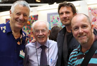 Kaffe Fassett Brandon Mably and David Butler at the Festival of Quilts