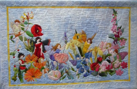 Malvern Quilt UK - Cotton Patch Trophy Winner for Large Wallhanging, Jane Hopkins